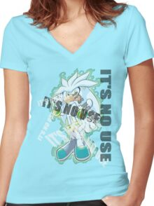 Sonic The Hedgehog [2006]: It's No Use! Women's Fitted V-Neck T-Shirt