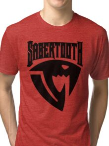 Sabertooth (Black) Tri-blend T-Shirt