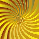 Gold spiral vortex by Medusa81