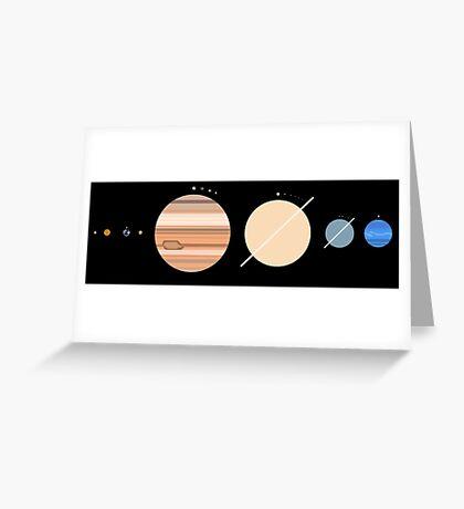 Minimalistic Solar System Greeting Card