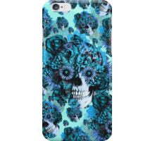 Blue grunge ohm skull.  iPhone Case/Skin