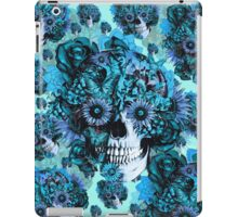 Blue grunge ohm skull.  iPad Case/Skin