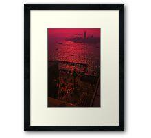 Hot summer night, Venice. Framed Print