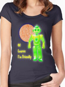 Of Course I'm Friendly T-shirt Women's Fitted Scoop T-Shirt