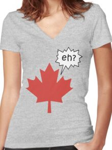 Funny Canadian eh T-Shirt Women's Fitted V-Neck T-Shirt