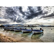 Lefkas Harbour Boats Photographic Print