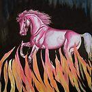 Red Horse by WildestArt
