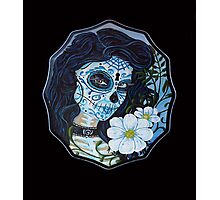 Blue day of dead girl Photographic Print