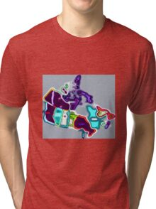 Map of Canada pop art Tri-blend T-Shirt