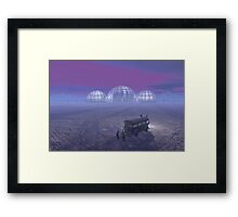 Mineral exploration on an Alien Planet Framed Print