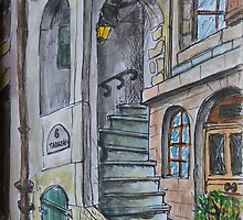 Geneva. Old Town. Watercolor Sketches by Igor Pozdnyakov by Igor Pozdnyakov