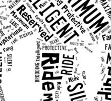 Maximum Ride: Fang Word Art Sticker