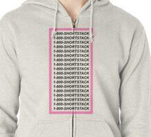 Short Stack/Hotline Bling WHITE PRINT Zipped Hoodie