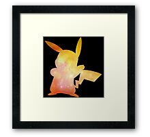 Pokemon Galaxy Pikachu Framed Print