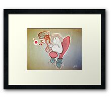 Bubbles thinking Framed Print