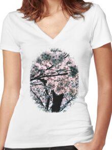 桜しかない Women's Fitted V-Neck T-Shirt