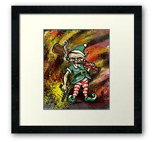 Disgruntled Elf Framed Print