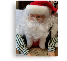 Santa Clause Writing A List And Checking It Twice Canvas Print