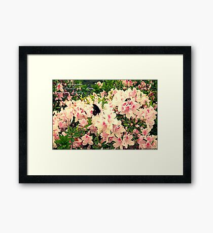 Butterfly with Haiku Framed Print