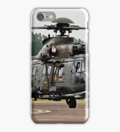 T-314 Aerospatiale AS.332 Puma of the Swiss Air Force iPhone Case/Skin