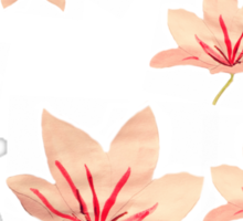 Vintage Chinoiserie floral lily print T Sticker