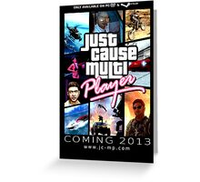 Just Cause Multiplayer GTA Poster Greeting Card