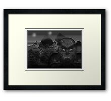 ©DA Aldebaran Alien IA Monochromatic Framed Print