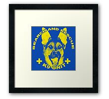 Search and Rescue K9 Unit Framed Print