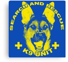 Search and Rescue K9 Unit Canvas Print