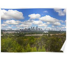 Austin Images - the Austin Skyline on a September Afternoon Poster