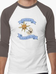 Solrock and Lunatone Motivational Men's Baseball ¾ T-Shirt