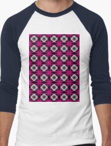 Seamless retro pattern Men's Baseball ¾ T-Shirt