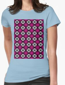 Seamless retro pattern Womens Fitted T-Shirt
