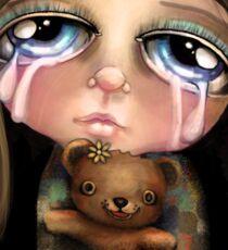 Sad Eyes Sticker