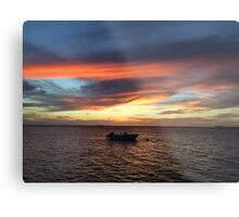 Sunset in Bonaire Metal Print