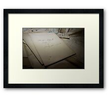 ...reports... Framed Print