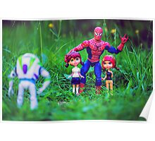 Spiderman and his friends Poster