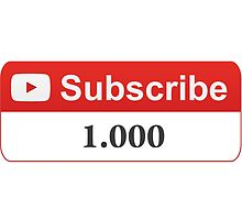 YouTube 1000 Subscribers by SKpixel