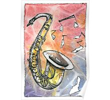 Saxophone Notes Poster