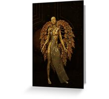 The Old Metal Angel Greeting Card