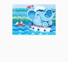 Sailor - Rondy the Elephant on a boat Unisex T-Shirt