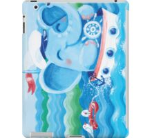 Sailor - Rondy the Elephant on a boat iPad Case/Skin