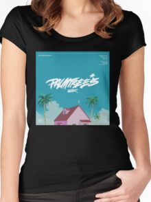 Flatbush Zombies Palm trees Women's Fitted Scoop T-Shirt