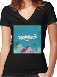 Flatbush Zombies Palm trees Women's Fitted V-Neck T-Shirt