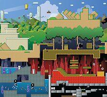 Mario world HD design update by David  Wrobel