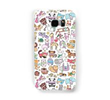 Winter Animals with Scarves Doodle Samsung Galaxy Case/Skin