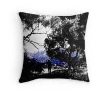 Cemetery road Throw Pillow