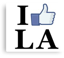 I Like LA - I Love LA - Los Angeles Canvas Print