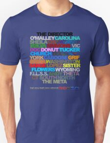 Red Vs. Blue Typography Unisex T-Shirt