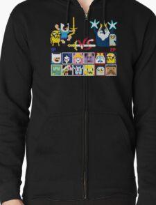 Super Adventure Fighter T-Shirt Zipped Hoodie